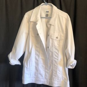 Old Navy White Jean Jacket - 3X - Never Worn